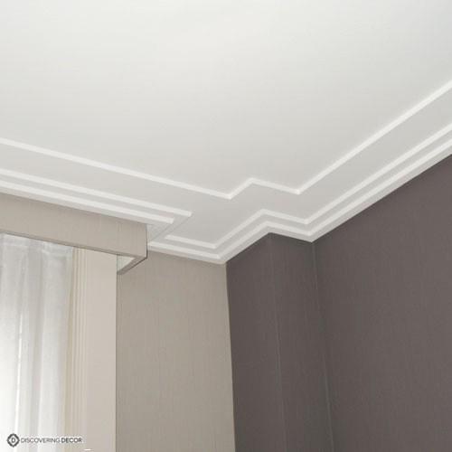 Corniche plafond moulure c353 moulure for Corniche plafond bois