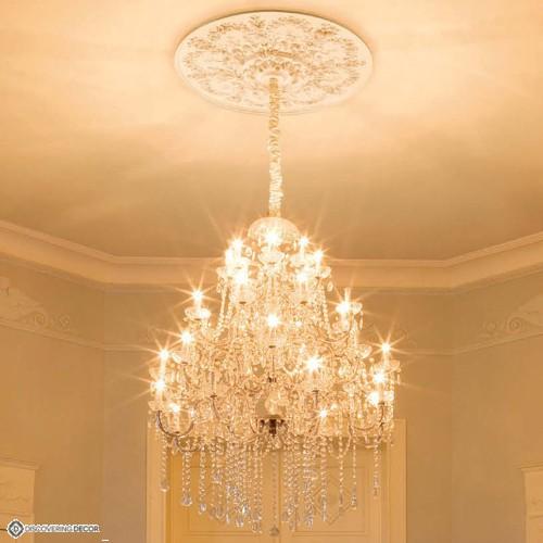 Rosace r64 moulure deco corniche for Rosace de plafond